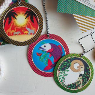Printable Color Ornaments: 4×4