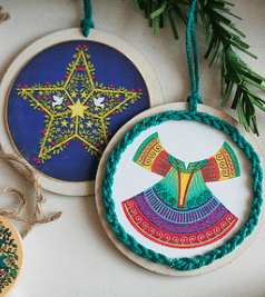 Printable Color ornaments: 2×2