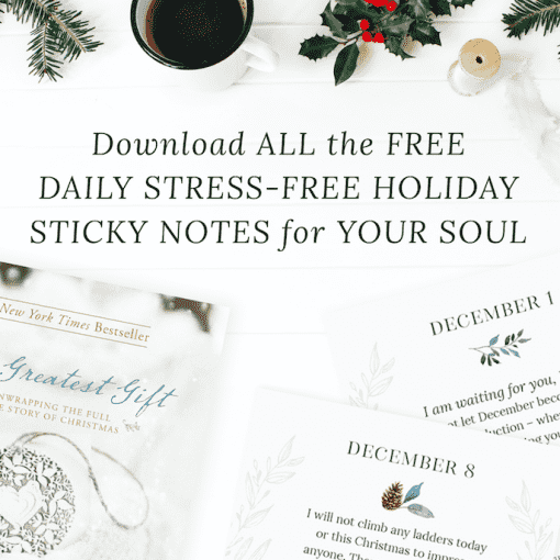 Holiday Sticky Notes for the Soul
