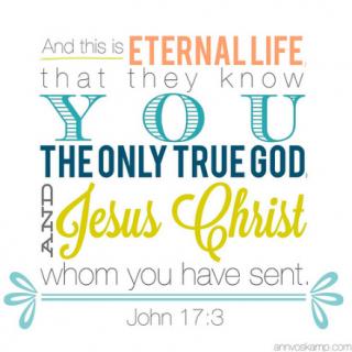 John 17:3