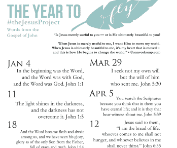 Bookmark of Memory Verses – Set #1 [The Jesus Project]