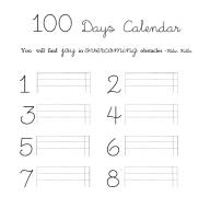100 Days Calendar