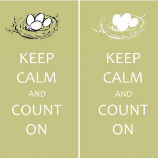 Keep Calm and Count On [for counting of thanks in November]