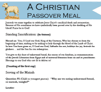 Christian Passover Meal
