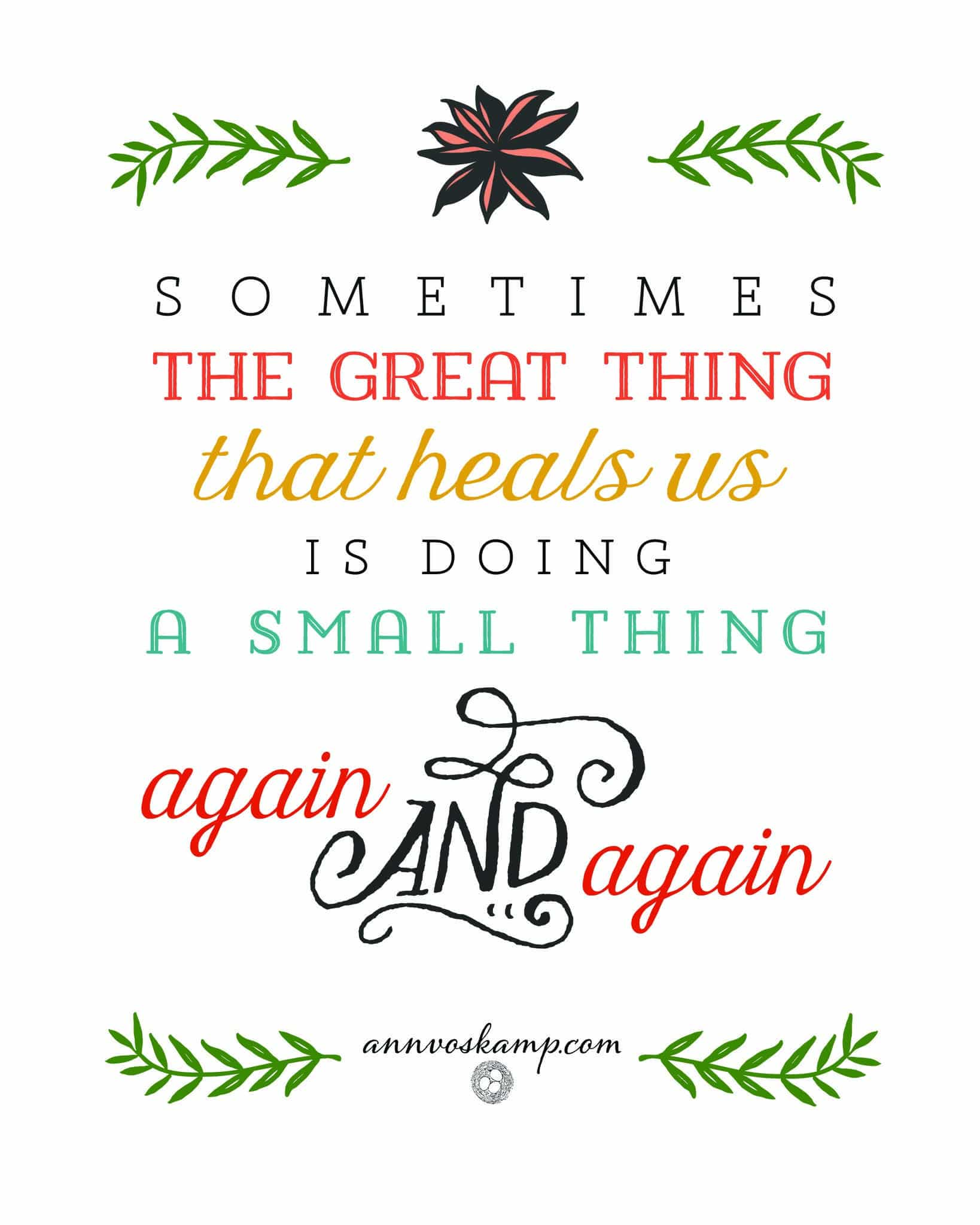 Sometimes the Great Thing That Heals Us