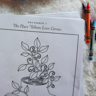 Coloring Pages for Unwrapping the Greatest Gift