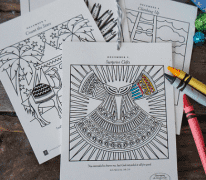 Coloring Ornaments: 6 per page [Unwrapping the Greatest Gift]