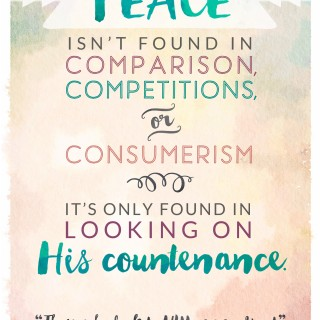 Peace Isn't Found in Comparisons