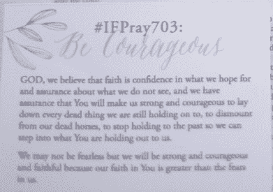 #IFPRAY703: Be Courageous [bookmark]
