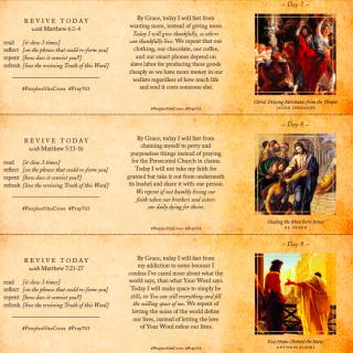 40 day Lent devotional cards