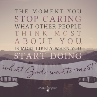 The Moment You Stop Caring What Other People Think