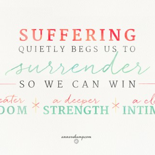 Suffering Quietly Begs Us