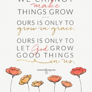 We Cannot Make Things Grow