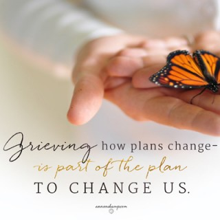 Grieving How Plans Change