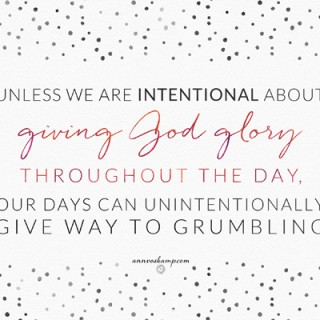 Unless We are Intentional