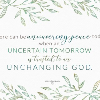 There can be unwavering peace