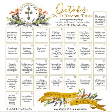 October BeTheGIFT calendar