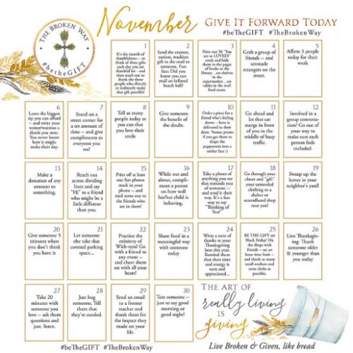 November BeTheGIFT Calendar