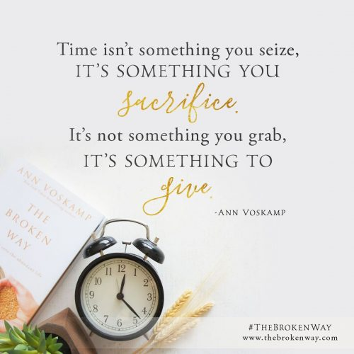 Time isn't something you seize