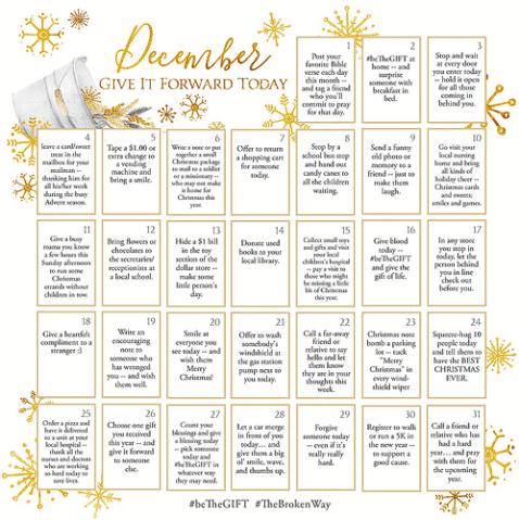 December BeTheGift Calendar