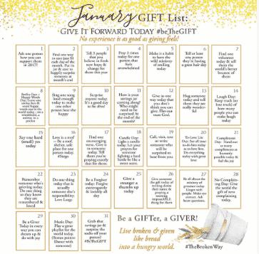 January BeTheGIFT Calendar