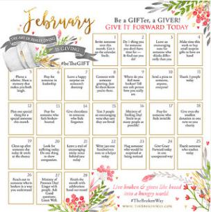 February beTheGIFT Calendar