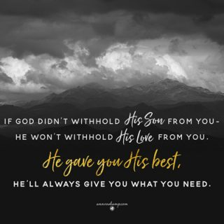 If God Didn't Withhold