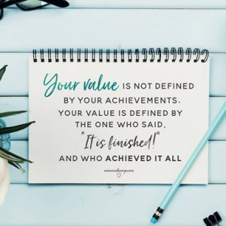 Your value is not defined by