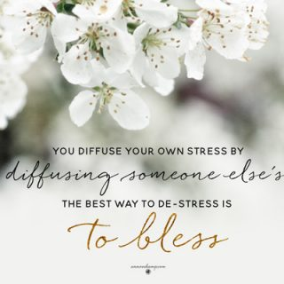 You diffuse your own stress