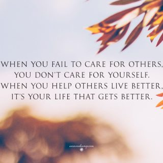 We you fail to care for others