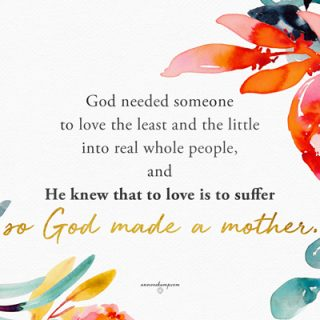 God needed someone