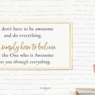You don't have to be awesome
