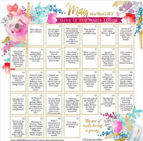 MAY beTheGIFT Calendar