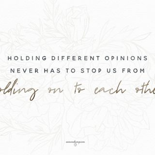 Holding different opinions