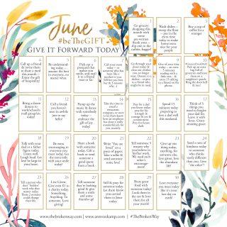 June beTheGift Calendar