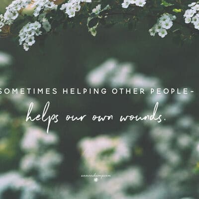 Sometimes helping other people