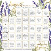 August beTheGIFT Calendar