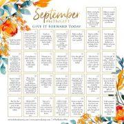 September BeTheGIFT Calendar