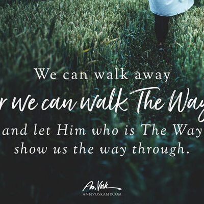 We can walk away or we can walk The Way