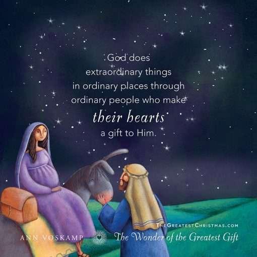God does extraordinary things