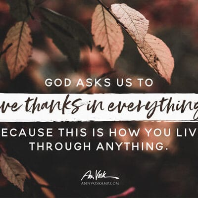 God asks us to give thanks in