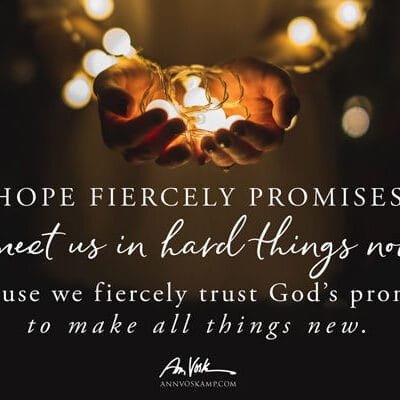 Hope fiercely promises