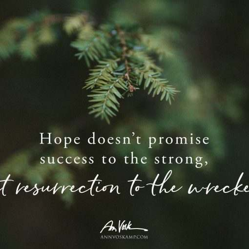 Hope doesn't promise