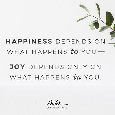 Happiness depends on