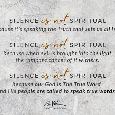 Silence is not spiritual