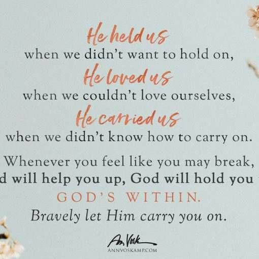 He held us