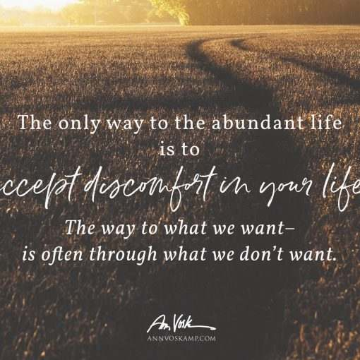 The only way to the abundant life