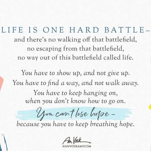 Life is one hard battle