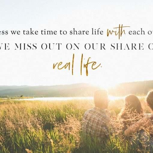 Unless we take time
