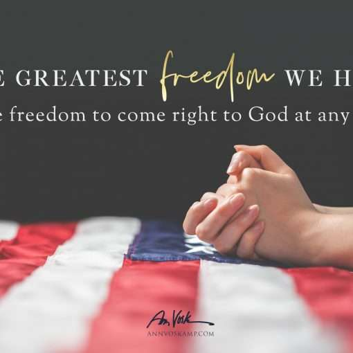 The greatest Freedom we have